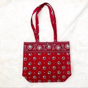 Vera Bradley | red print tote bag